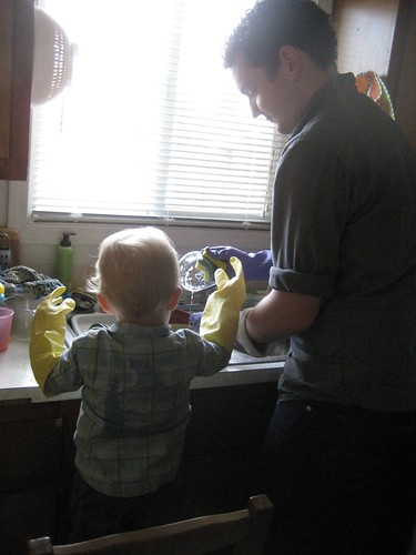 Dishes with Daddy