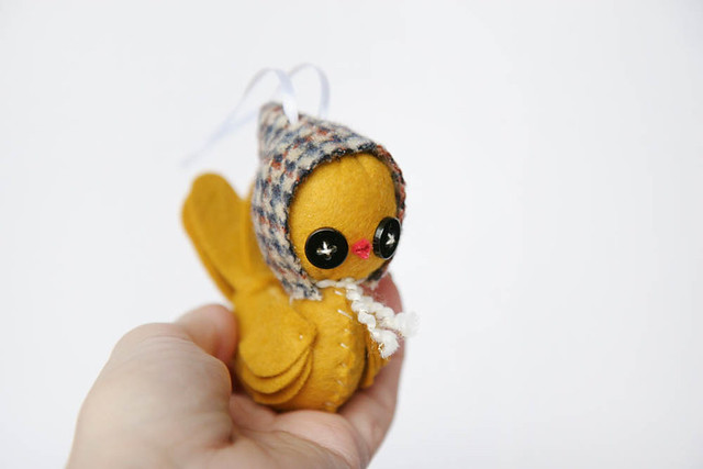 Yellow Bird Ornament