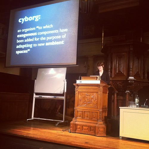 Amber Case starting off with a literal #50cyborgs lecture