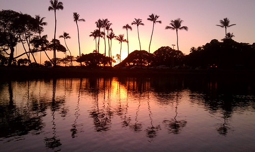 Photo:Magic Island Pond sunset By:madmarv00