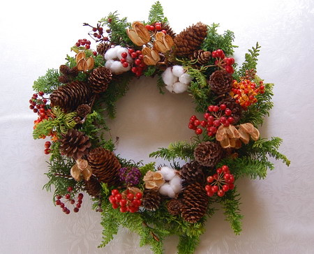 ★クリスマスリースとティンシャ