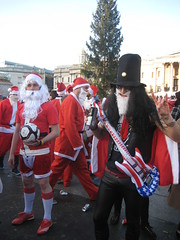 Slash Santa  - Santcon 2011 - Trafalgar Square
