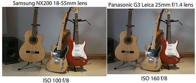 NX200 / G3 comparison - ISO 100/160