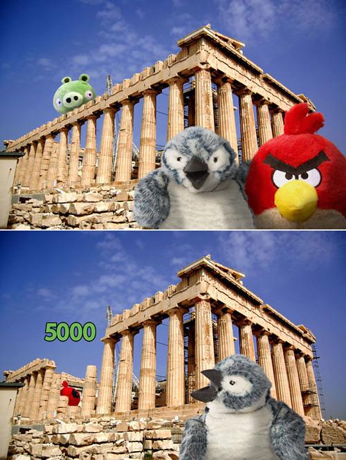 앵그리 버드 실사판 (그리스 아크로폴리스 편)