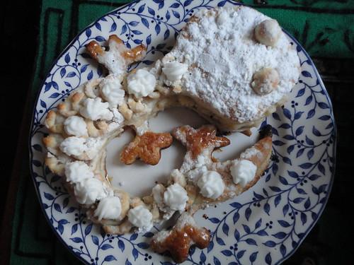 Iguana de crema de pastelera