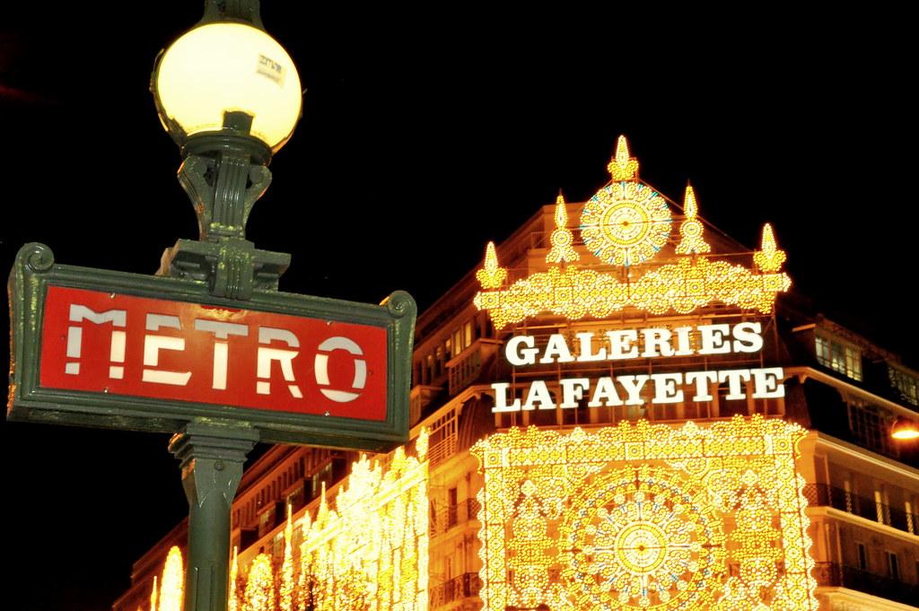 PARIGI PARIS METRO METROPOLITAIN  TRAIN CAMPO FORMIO GALLERIE LAFAYETTE GALERIES