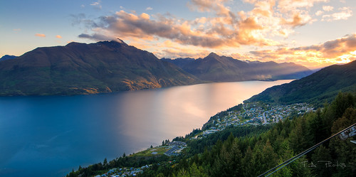 queenstown gondola sunrisesunset hdr tokina1116 newzealandholiday2011
