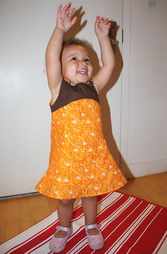 Z's Orange Tea Party dress