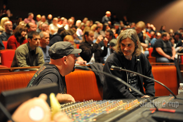 Alice Cooper sound board techs