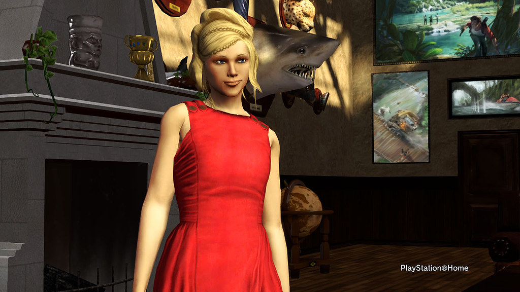 Playstation home red dress