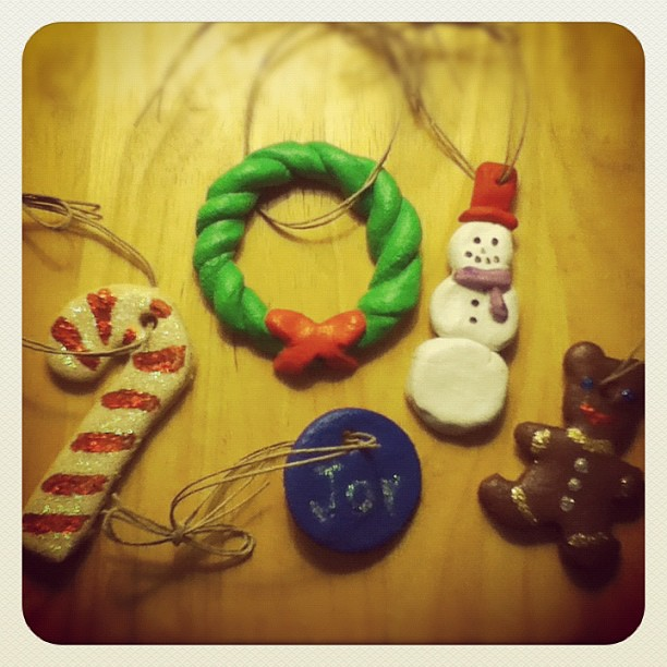 Finished salt dough ornament fun...
