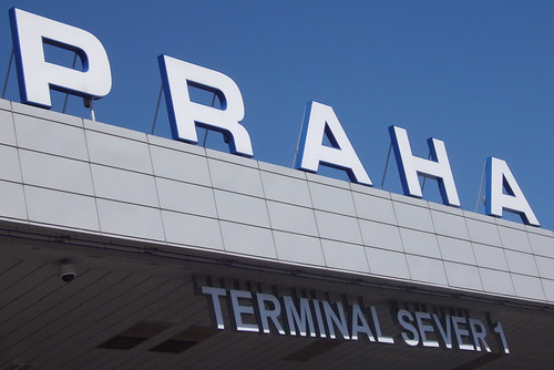 Prague Airport by Wendy Wrangham
