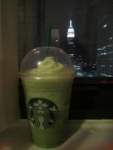 Matcha Frappuccino & the Empire State Building