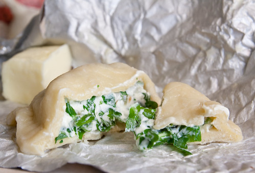 Arugula and Goat Cheese Pierogies