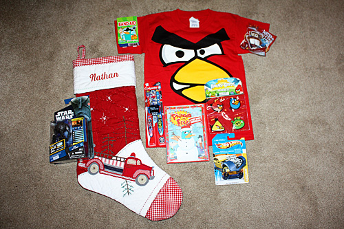 Nathans-stocking-contents