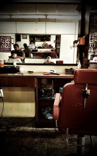 Barber shop.