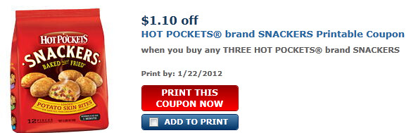 Hot Pockets Brand Snackers Coupon