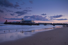 sunset bournemouth pier
