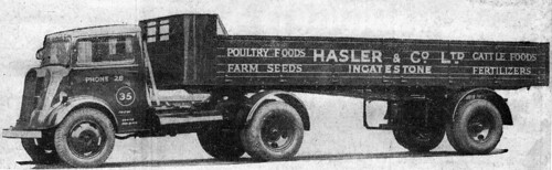 "Ford Thames 7V articulated lorry ""Hasler & Co Ltd"" Ingatestone, Essex"