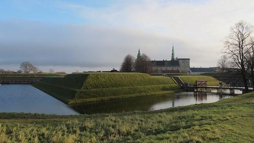 Moat, Castle, Helsingør, Danmark