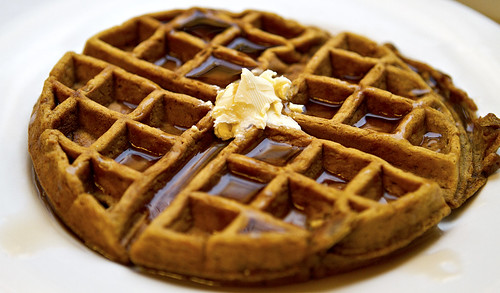 Gingerbread Waffles with Buttermilk Syrup