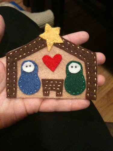 nativity felt ornament - Handmade Felt Christmas Decorations