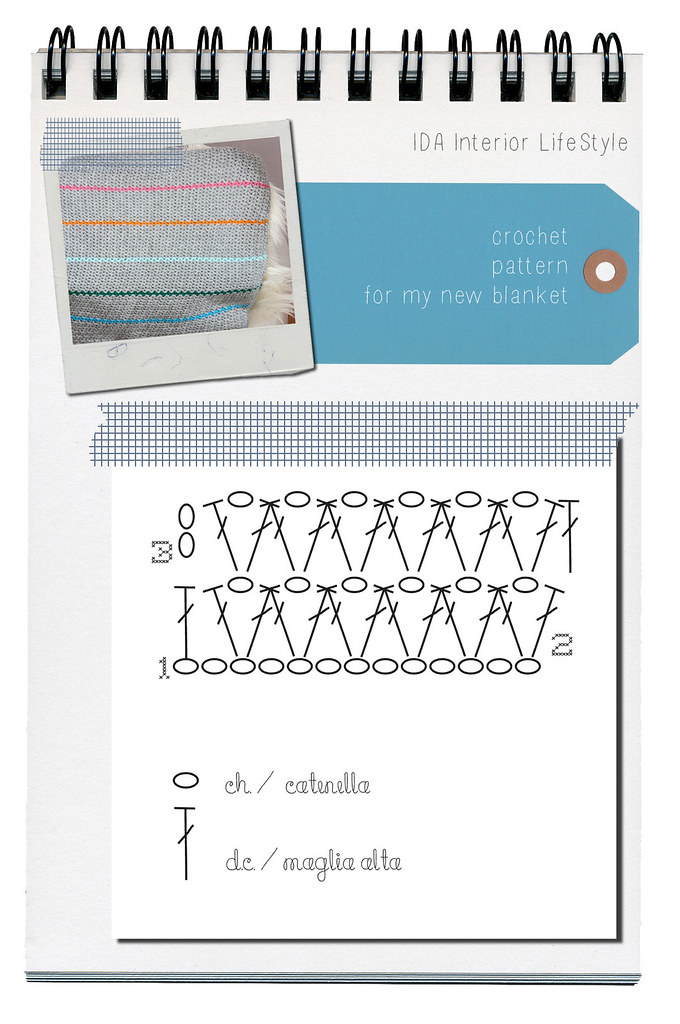Crochet blanket {+ scheme}