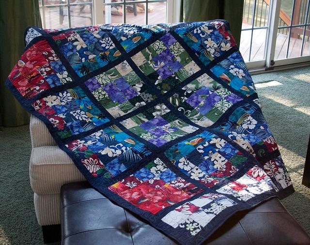 Hawaii Quilt- chair