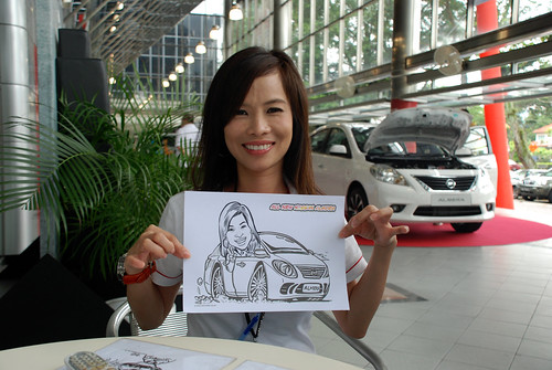 Caricature live sketching for Tan Chong Nissan Almera Soft Launch - Day 2 - 1