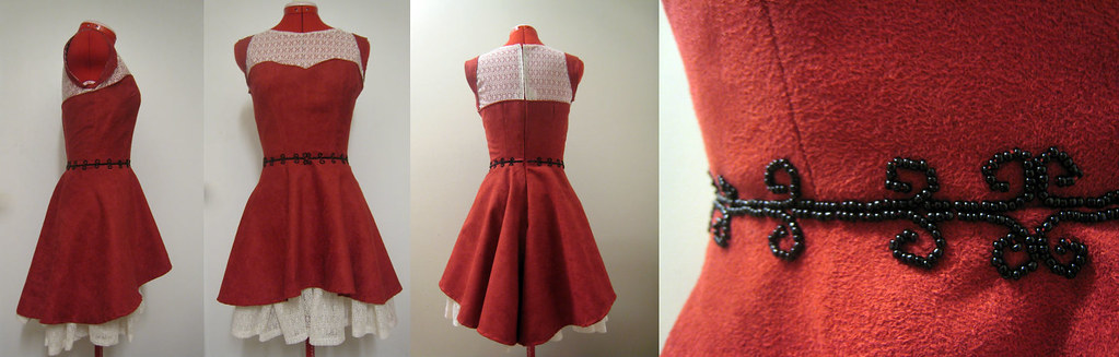 England Red Dress