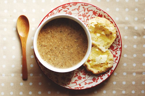 mushroom, lentil & walnut soup.