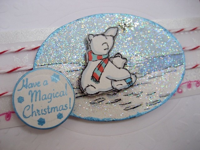 Magical Christmas Bear Detail