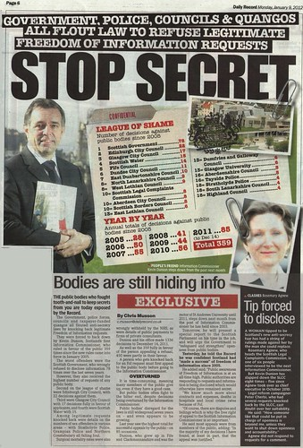 stop secret Daily Record 9 January 2012