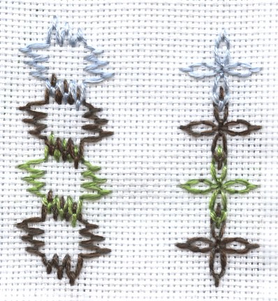 Fly Stitch Sample