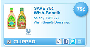 Wish-bone Dressings Coupon