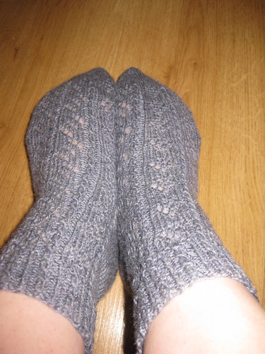 Lacy Grey Socks 001