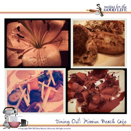 Mission Beach Cafe: January 2012 Menu