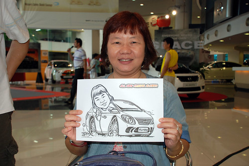 Caricature live sketching for Tan Chong Nissan Motor Almera Soft Launch - Day 3 - 18