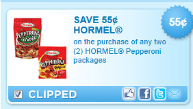 Hormel Pepperoni Packages Coupon