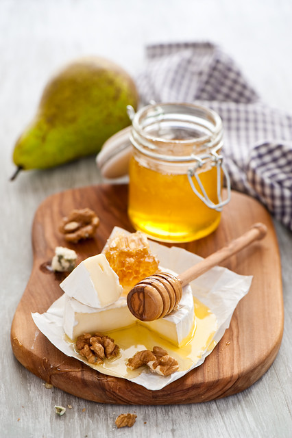 Honey, cheese and nuts