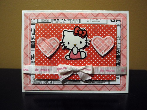 Hello Kitty Be Mine Card