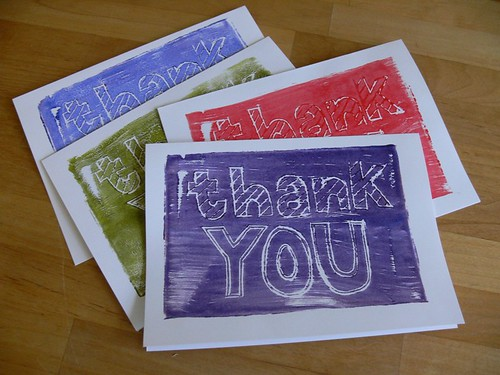 Jenny: Stamped Thank You Cards