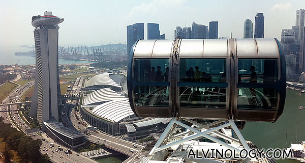 Reaching the highest point of the Singapore Flyer