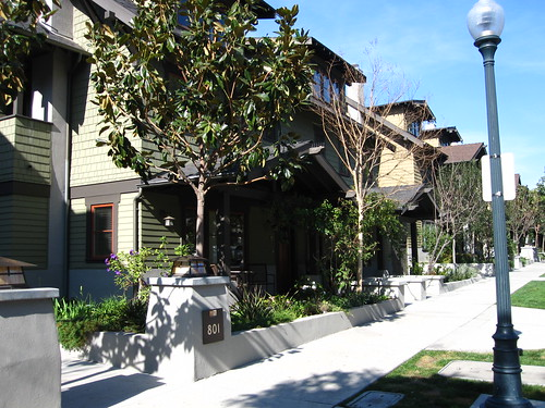 Craftsman duplex at Mission Meridian Village in South Pasadena