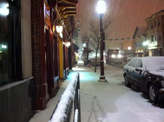 Snow January 19, 2012