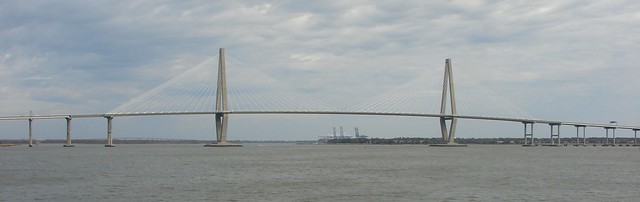 Ravenel Bridge from Charleston Harbor