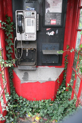 Ivy clad K2 phone box
