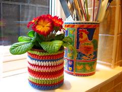 Stripy Crochet Tin Cover