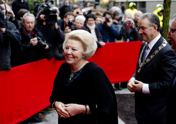 Koningin Beatrix bij premiere De Nieuwe IJstijd