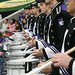 Snare Drummers Perform at the Meineke Bowl